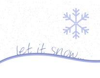 Laat het sneeuwen Stock Foto