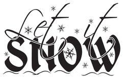 Laat het sneeuwen Stock Illustratie