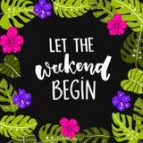 Laat het weekend beginnen Stock Afbeelding