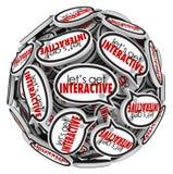 Laat Interacive-de Groepsmededeling van Toespraakbellen krijgen stock illustratie