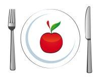 Laat met appel Royalty-vrije Stock Foto
