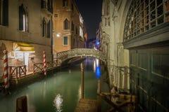 Laat - nacht in Venetië stock fotografie