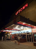 Laat - nachtFilm in Uptown Royalty-vrije Stock Foto's