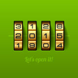 Laat open nieuwe 2015 het jaarkaart van ` s Royalty-vrije Stock Afbeeldingen