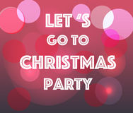 Laat ` s naar Kerstmispartij gaan Royalty-vrije Stock Fotografie