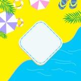 Laat ` s op het strand zonnebaden Jonge volwassenen royalty-vrije stock afbeeldingen