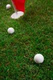 Laat spel een ronde van golf! Stock Foto's