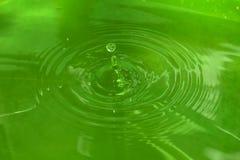 Laat vallen water Stock Foto