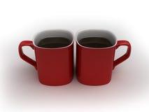 Laat wat koffie hebben royalty-vrije illustratie