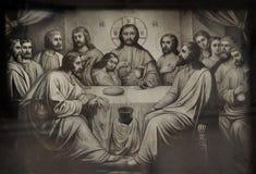 Laatste avondmaal van Jesus Christ de redder stock afbeelding