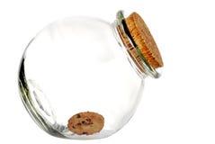 Laatste koekje in de kruik Stock Afbeeldingen