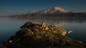 Laatste licht bij de Armeense Kerk, Turkije Stock Foto