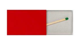 Laatste Matchstick in Doos stock afbeelding