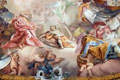 Laatste Oordeel en Verheerlijking van de Benedictineorde royalty-vrije stock afbeelding