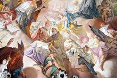 Laatste Oordeel en Verheerlijking van de Benedictineorde royalty-vrije stock foto's