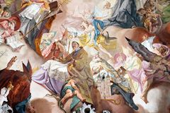 Laatste Oordeel en Verheerlijking van de Benedictineorde stock afbeeldingen