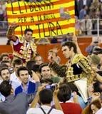 Laatste stieregevecht in Barcelona Royalty-vrije Stock Foto's