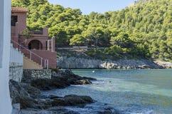 Laatste zinsnede van de Baai van Assos op het Eiland Kefalonia Royalty-vrije Stock Foto
