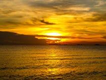 Laatste zonlicht van zonsondergang Royalty-vrije Stock Afbeeldingen