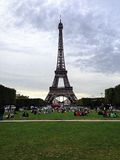 Laausflug Eiffel, Paris, Frankreich lizenzfreie stockbilder
