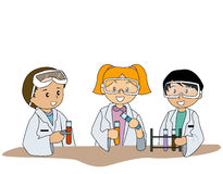 At the Lab Royalty Free Stock Image