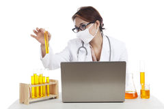 Lab asistant working Royalty Free Stock Photography