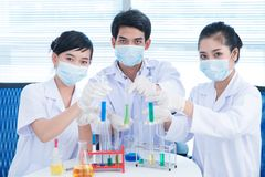 Lab cheers Royalty Free Stock Photos