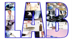 Lab collage stock footage