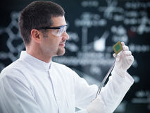 Lab data retrieval Stock Photography