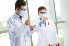 In lab environment stock image