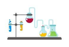 Lab flask vector illustration Stock Photos