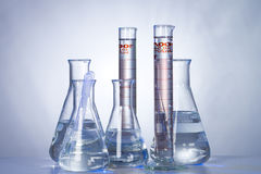 Lab glassware Royalty Free Stock Photos