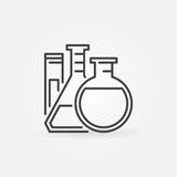Lab glassware vector icon Royalty Free Stock Image