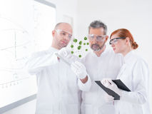 Lab green samples analysis Royalty Free Stock Images