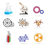 Lab icons Stock Photos