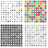100 lab icons set vector variant. 100 lab icons set vector in 4 variant for any web design isolated on white Royalty Free Stock Image
