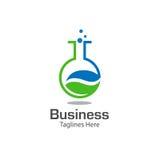 Lab logo with leaf symbol Stock Photos