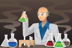 lab naukowiec royalty ilustracja