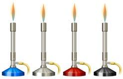 Lab palnik z płomieniem ilustracja wektor