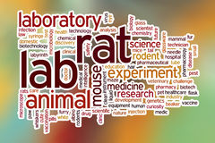 Lab rat word cloud with abstract background Stock Photography