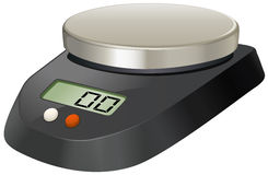 Lab scale with metal plate Royalty Free Stock Photography