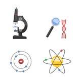 Lab symbols test medical laboratory scientific biology design molecule concept vector Royalty Free Stock Images