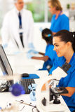 Lab technicans working Stock Images