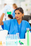 Lab technician analyzing Stock Image