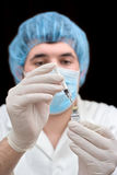 Lab technician working royalty free stock photography