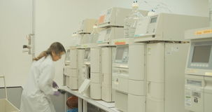 Lab technician working at a pharmaceutical laboratory