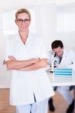 Lab technicians at work in a laboratory Royalty Free Stock Image