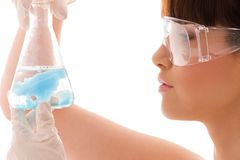 Lab work Stock Images