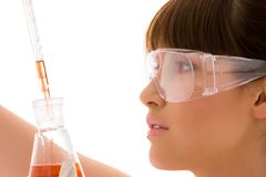 Lab work Royalty Free Stock Photography