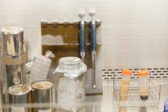 Lab wyposażenia oparu kapiszon w laboratorium Zdjęcie Stock